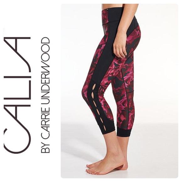 3132e5ff541d6 CALIA by Carrie Underwood Pants | Calia Essentials Printed Open Slit ...
